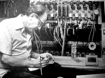 Les Soldering Inside His Console
