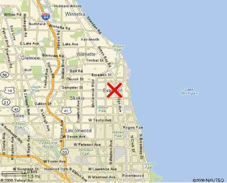 We Re In South Evanston Illinois Just North Of Chicago S Roger S Park It Is Approximately 3 4 Mile West Of The Lake Near South Boulevard Chicago Ave